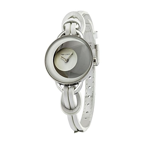Ted Lapidus A0570RANF - Reloj de pulsera mujer, piel, color blanco