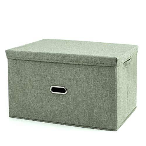 BBQBQ Auflagenboxen Haushalt Faltbare Aufbewahrungsbox Sparbox Laden Kleidung Aufbewahrungsbox Armee grüne Trompete 32 * 24 * 18CM