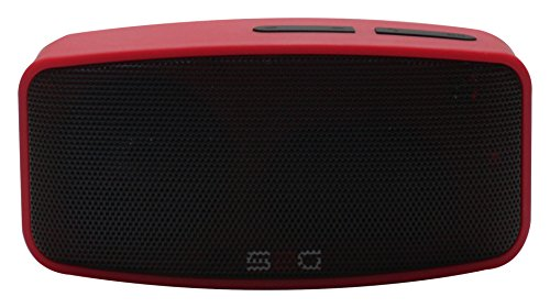 S2G AXESS von SOUND2GO - Bluetooth Lautsprecher mit Freisprecheinrichtung, Micro-SD Slot, USB-Player und FM-Radio - schwarz/rot