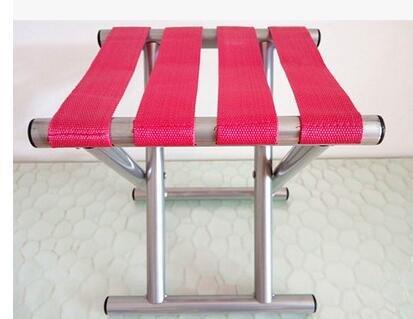 extérieur portable Chaise pliante de pêche Tabouret pliant Pêche Chaise de plage Camping Randonnée pique-nique Jardin BBQ Tabouret, rose