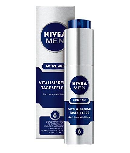 NIVEA Men, Vitalisierende Tagespflege für Männer, 50 ml Spender, Gesichtspflege, Active Age