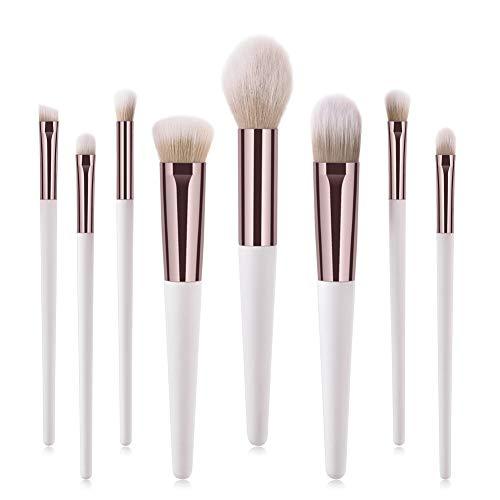 Cocohot Pinceau de Maquillage Set 8 Pcs Set Fondation Mélange Correcteur Blush Correcteur Gratuit Eye of Cruelty Kit Fibre Synthétique