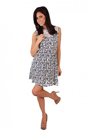 Madam rage robe robe r987 et de cachemire Blanc - Blanc