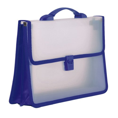 2 Fächer Transparenter Ordner für aufklappbare Dateien A4 Document Organizer Tragbare Aktentasche, Blau - Ausbau Kunststoff-datei-ordner