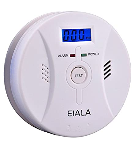 Smoke & Carbon Monoxide Detector EIALA Combination Alarm,CO and Smoke Alarm with Sound Warning and Digital Display [Latest Design] Fire Safety