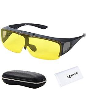 Agstum ATADURA en la visión nocturna de conducción gafas polarizadas Flip Up gafas de sol