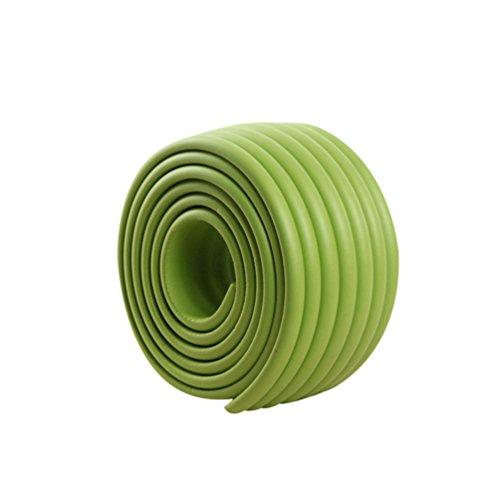 Lvguang W-Form Glastisch Kantenschutz Eckenschutz Tischkante Kissen Beschützer Baby Schutz (Grün,2000mm*80mm*8mm)