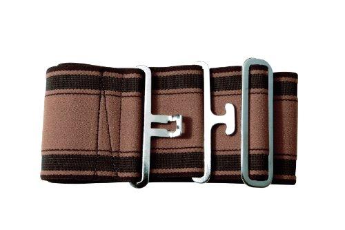 PFIFF Elastischer Deckengurt, gestreift/braun/beige, 005127-117-1