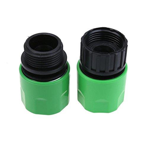 UEB Lot De 2 Quick Fix Tuyau D'Arrosage Connecteurs Raccords Tuyau D'Eau Robinet 3/10,2 Cm Filetage Accessoires Kits De Système D'Irrigation No.# 1