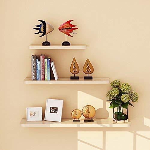 Willesego Wandregal für Küche Bücherregal Wohnzimmer Wanddekoration Trennwand Schwimmendes Regal 3-teilig (Farbe: Light Nussbaum) (Farbe : White Maple, Größe : -) -