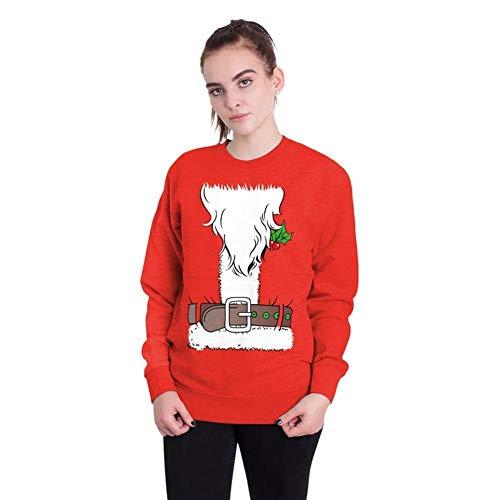 TUWEN WeihnachtskostüM Christmas Festival Jugend 3D Digital Print Sweatshirt