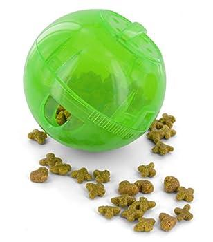PetSafe - Jouet Distributeur de Croquettes pour Chat SlimCat, Jouet Interactif à Friandises - Vert