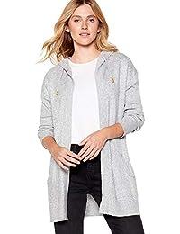 7933afb5e Mantaray Womens Grey Knitted Cardigan