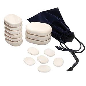 15 Cold Stones Cold Stone Set Basic 15 Steine Aus Marmor Khlung Und Anregung Des Stoffwechsels Ergnzend Zur Hot Stone Massage