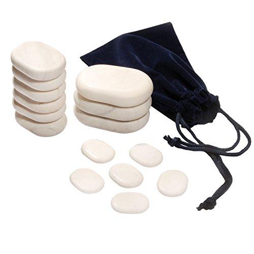 15 Cold Stones, Cold Stone Set Basic (15 Steine) aus Marmor, Kühlung und Anregung des Stoffwechsels, ergänzend zur Hot Stone Massage