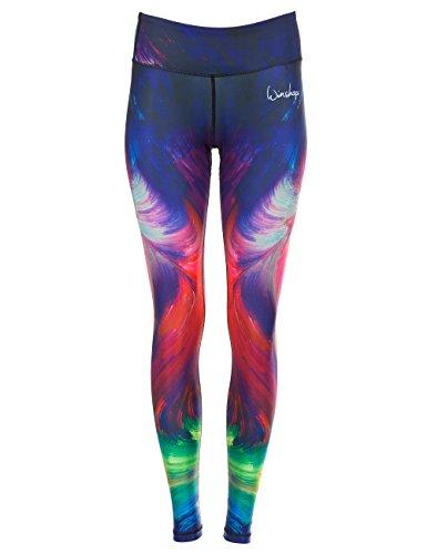 Winshape Damen Functional Tights mit Anti-Rutsch-Effekt Slim Style Fitness Freizeit Sport Yoga Workout Leggings, Colour Explosion, L