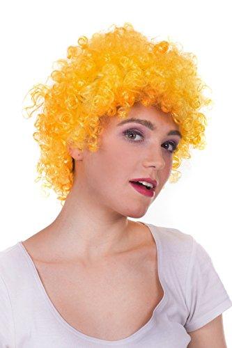 Afro Perücke Damenperücke Kunsthaar bunt Kurzhaar rot schwarz cosplay kurz Locken lockiges Haar Karneval für Damen Männer Party Fasching Halloween Geburstag zum Neuen Jahr