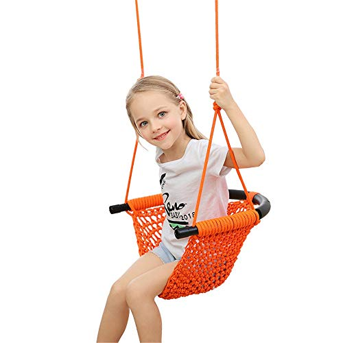 Zyangg-Home Kinder Adjustable Outdoor Gartenschaukelsitz Kinderschaukel, handgemachte Seil-Schaukelsitz ist ideal for Baum, Indoor, Spielplatz, Hintergrund Kindersicherheitssitz