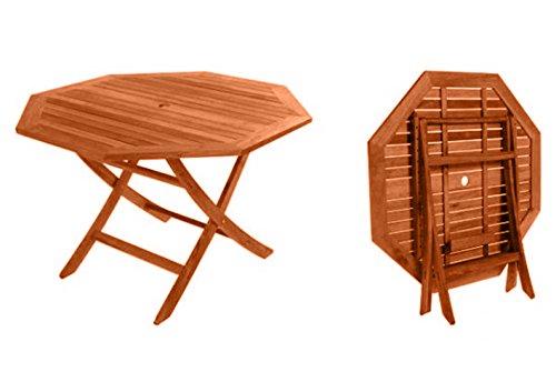 Set tavolo in legno da giardino pieghevole sedie per esterno