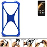 K-S-Trade Bumper für Allview P9 Energy Mini Silikon Schutz Hülle Handyhülle Silikoncase Softcase Cover Case Stoßschutz, blau (1x)