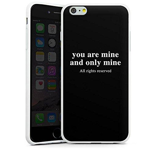 Apple iPhone X Silikon Hülle Case Schutzhülle Rights reserved Liebe Statement Silikon Case weiß