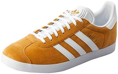 adidas Herren Gazelle Fitnessschuhe, Mehrfarbig (Mesa/Ftwbla/Ftwbla 0), 43 1/3 EU Retro-sneaker
