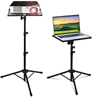Laptop Tripod Stand,Projector Stand Mount,Adjustable Laptop Stand with Tray,Portable Outdoor Floor Laptop Stan