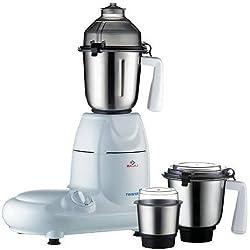 Bajaj Twister 750-Watt Mixer Grinder with 3 Jars (White)
