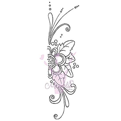 Magnolia Gummi Lazy Sommer Tagen selbst Stempel 6,5x 3,5Package-Border Blume -
