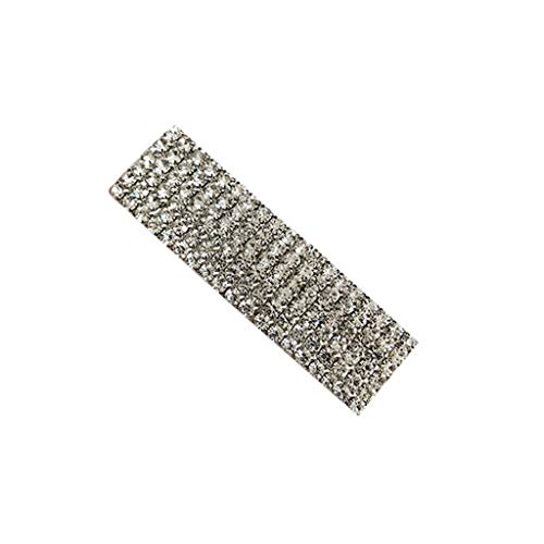 A0127 Frauen Korean Style Metal Alloy Hairgrip Geometrische Rechteck Form Vintage Entenschnabel Haarspange Glitter Strass Buchstaben Retro Leopard Luxus Haarspangen
