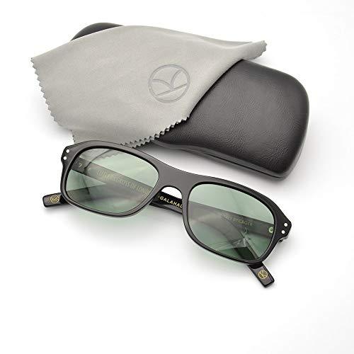 LKVNHP Kingsman Vintage Designer Geheimdienst Sonnenbrille Polarisierte Uv400 Objektiv Acetat Rahmen Brillen Für Männer Im Freien BrilleSchwarz Grün
