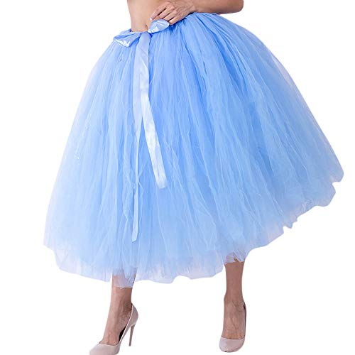 val Slim Style Frauen Mesh Tüll Tutu Rock Brautjungfer Prinzessin Rock Bubble Mutterschaft Rock Dirndl Masquerade Elegantes Samba-Kleid ()
