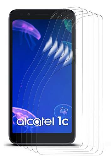 moex 5X Alcatel 1c (2019) | Schutzfolie Klar Bildschirm Schutz [Crystal-Clear] Screen Protector Display Handy-Folie Dünn Bildschirmschutz-Folie für Alcatel 1c (2019) Bildschirmfolie