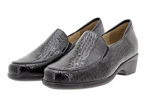 PieSanto Scarpe Donna Comfort Pelle 9610 Moccasin Casual Comfort Larghezza Speciale Negro