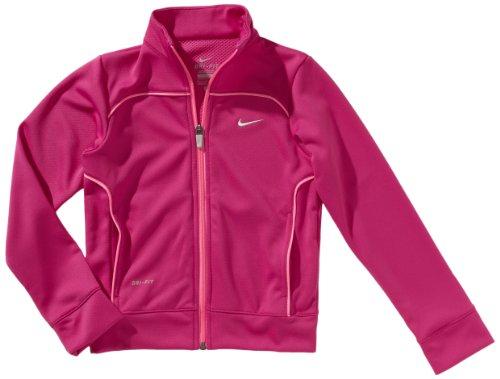 NIKE Mädchen Trainingsjacke Waffle Dri-fit Knit Jacket, fusion pink/polarized pink/strata grey, L, 532464-608 (Nike-knit Jacket)