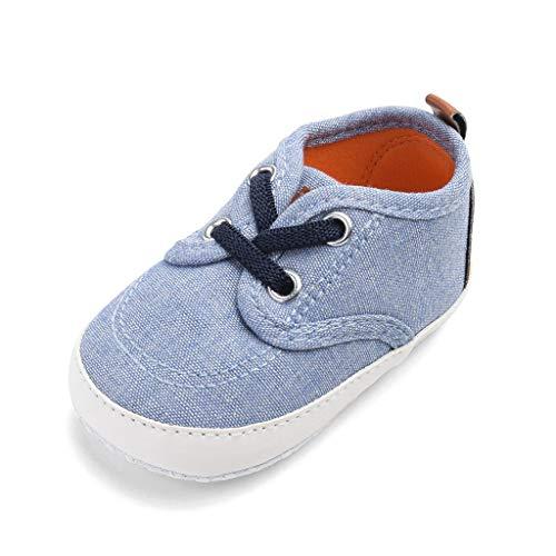 Kinder Jungen Zubehör Säuglingspflege,Neugeborenen Jungen Candy Farbe Nähen Anti-Slip Erste Wanderer Weiche Sohle Schuhe ()