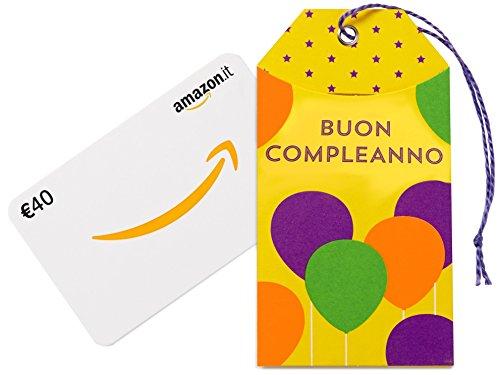 Buono regalo amazon.it - €40 (bustina compleanno)
