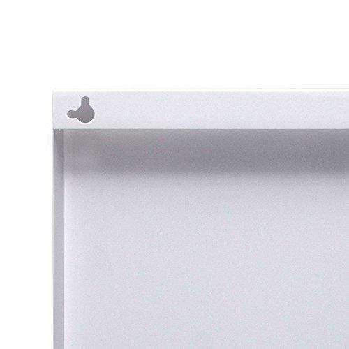 banjado – Pinnwand Magnettafel weiß 78cm x 37cm quer mit Motiv Patina Grün - 6
