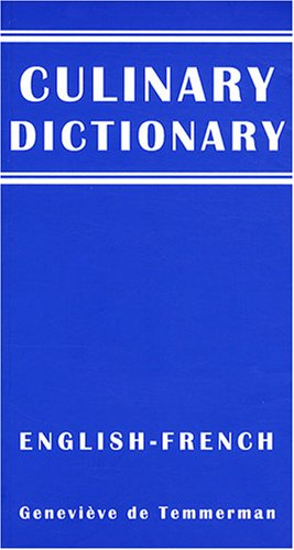 Culinary dictionary english-french