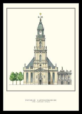 Philipp Gerlach Potsdam Garnisionskirche Architektur Plakat Poster Kunstdruck Bild im Alu Rahmen in...