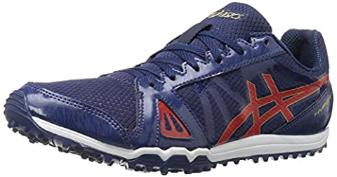 ASICS Men's Hyper Xcs Cross-Country Running Shoe, Estate Blue/Vermilion/Rich Gold,