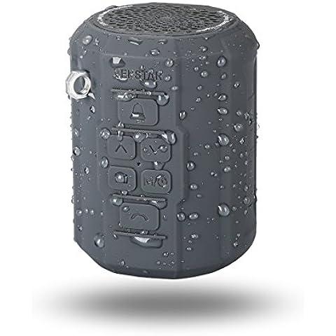 Altavoz Bluetooth 4.0, altavoz inalámbrico portátil, altavoz estéreo portátil, Bluetooth-speaker V4.0, color negro, compatible con Apple y Android, batería de litio incorporada para 5 horas de funcionamiento autónomo, cable USB en el