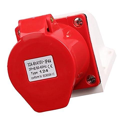 Sharplace Prise de Courant Imperméable Industrielle Résistant aux Chocs 3P + N + E / 3P + E / 2P + E - 3p + e ac 380-415v 32a amp ip67 4-pin