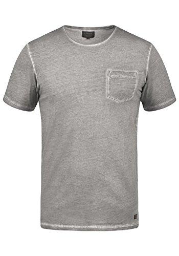 PRODUKT Pancho Herren T-Shirt Kurzarm Shirt Mit Rundhalsausschnitt Aus 100% Baumwolle, Größe:M, Farbe:Griffin