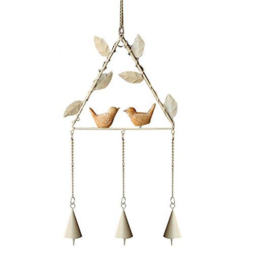 Forepin® Piccolo Carillon Vento Appeso Wind Chime Windbells per Giardino Ornamento Interno All'aperto - Triangolo