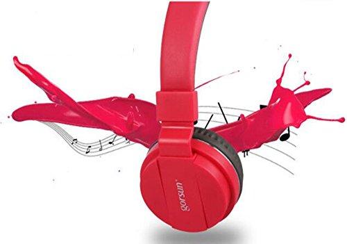 Mr. Fragile Laptop Gaming Kopfhörer Headset Kopfhörer Mikrofon,Red