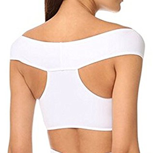 iBaste Damen sexy verschränken on der Schulter Badeanzug Bikini-Sets Weiß