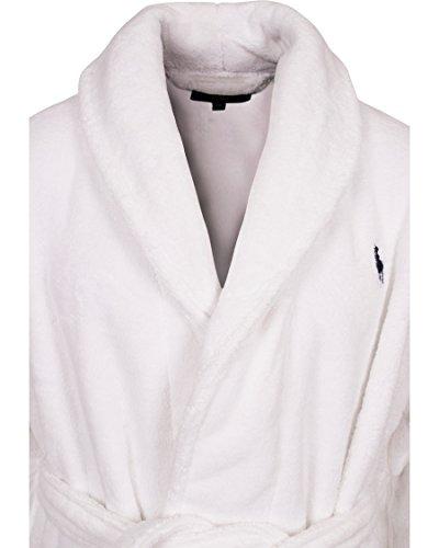 Polo Ralph Lauren Herren Bademantel Shawl Robe White Weiß (White 003)