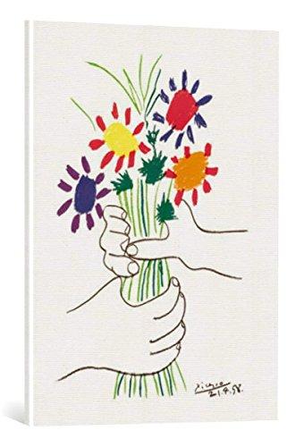 kunst für alle Leinwandbild: Pablo Picasso Bouquet - hochwertiger Druck, Leinwand auf Keilrahmen, Bild fertig zum Aufhängen, 60x80 cm -