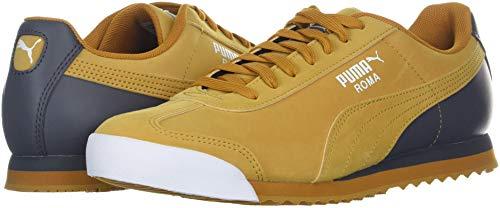 PUMA Men s Roma Retro Sports Sneaker  Buckthorn Brown-Iron gate White  9 M US